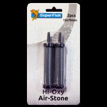 SuperFish Hi-Oxy Airstone 70 x 15 mm, 2 stuks